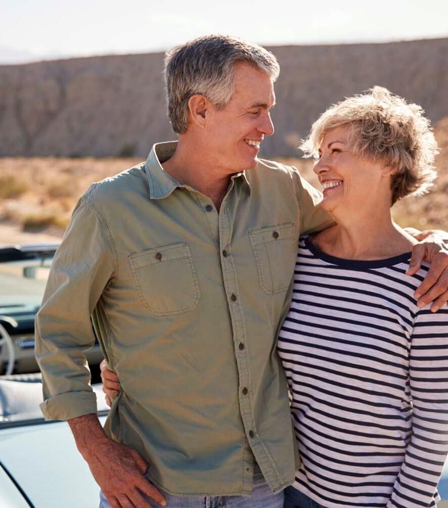 Happy couple in Riverside, CA